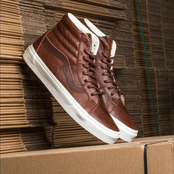 89d5491a8b Vans Sk8 Hi Reissue Lux Leather Men's 8.5 NWT
